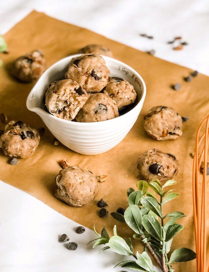 Paleo Pecan Cookie Dough Bites