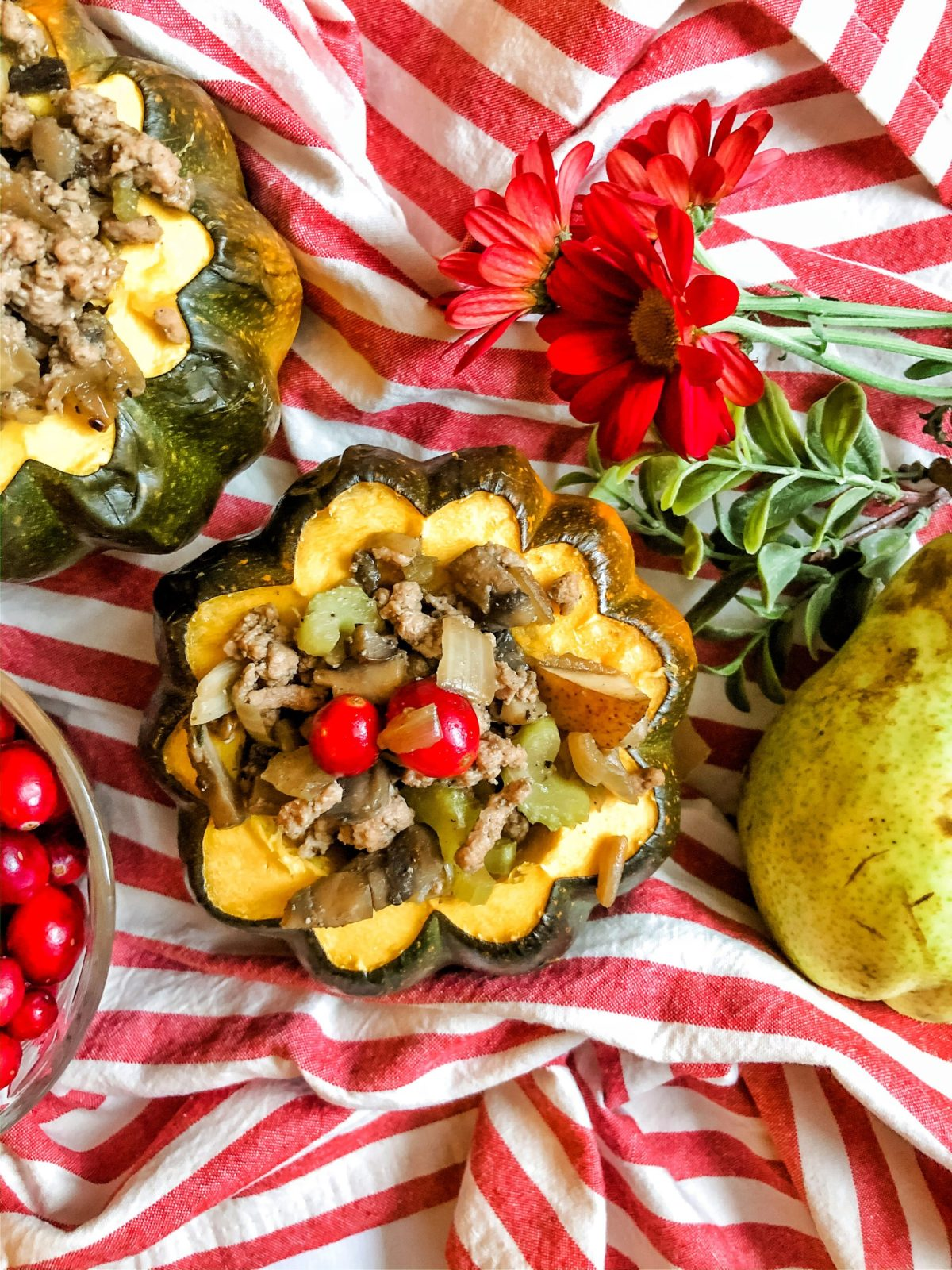 Turkey Stuffed Acorn Squash