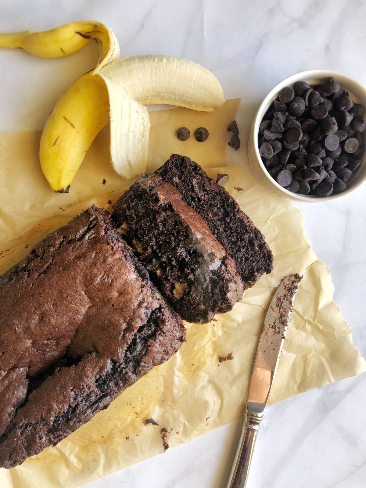 Double Chocolate Collagen Banana Bread