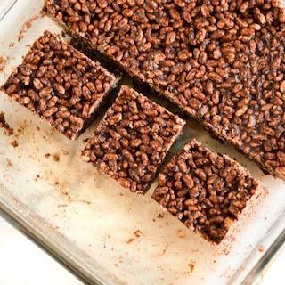 Peanut Butter Chocolate Crispy Squares