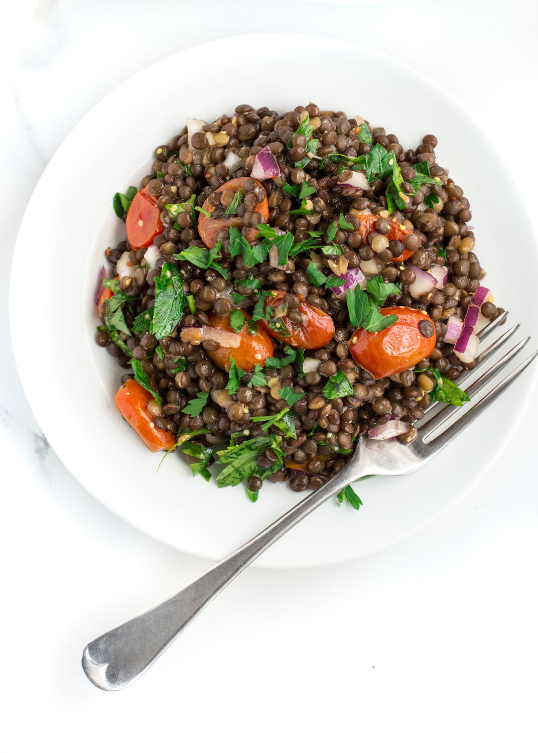 Roasted Tomato Lentil Salad