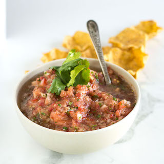Easy Homemade Salsa with Cilantro and Jalapeño