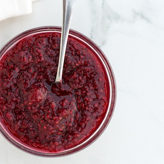 Easy Raspberry Chia Seed Jam {vegan and GF}