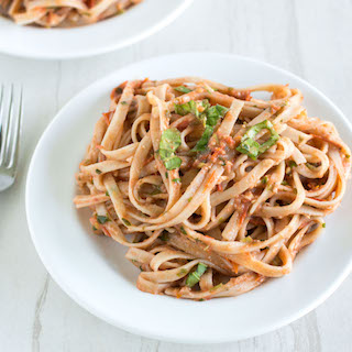 Roasted Tomato and Walnut Pesto Pasta