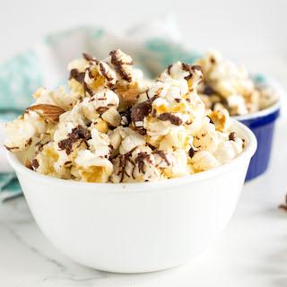 Salted Chocolate Popcorn Trail Mix