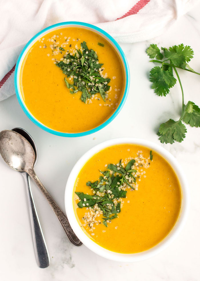 The Top 6 Recipes of 2016 | Gluten Free, Vegetarian, Easy to Make recipes | Curried Butternut Squash and Apple Soup
