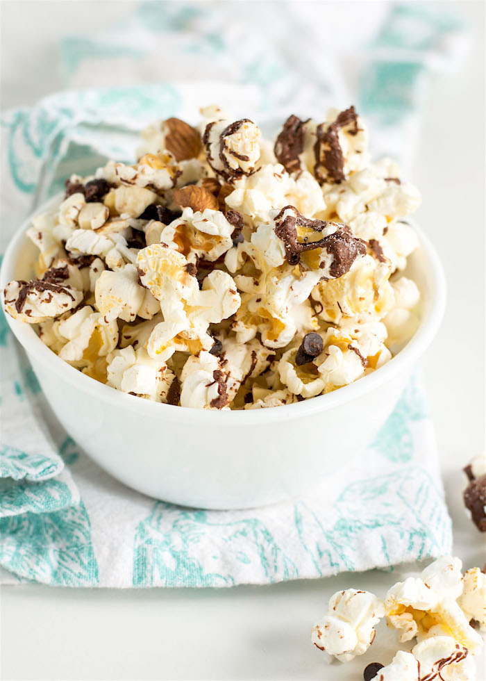 The Top 6 Recipes of 2016   Gluten Free, Vegetarian, Easy to Make recipes   Salted Chocolate Popcorn Trail Mix