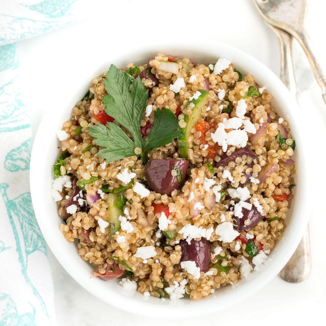 Gluten Free Mediterranean Quinoa Salad Always Nourished