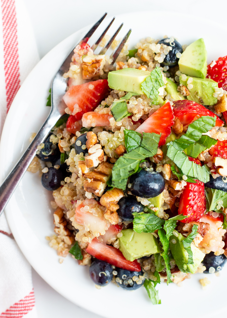 Summery Mixed Berry Quinoa Salad with Avocado