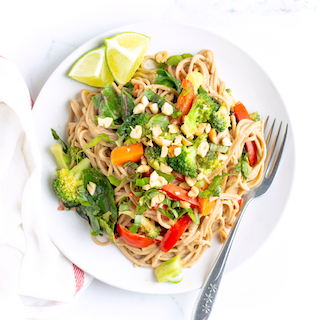 Easy Peanut Noodles with Veggies