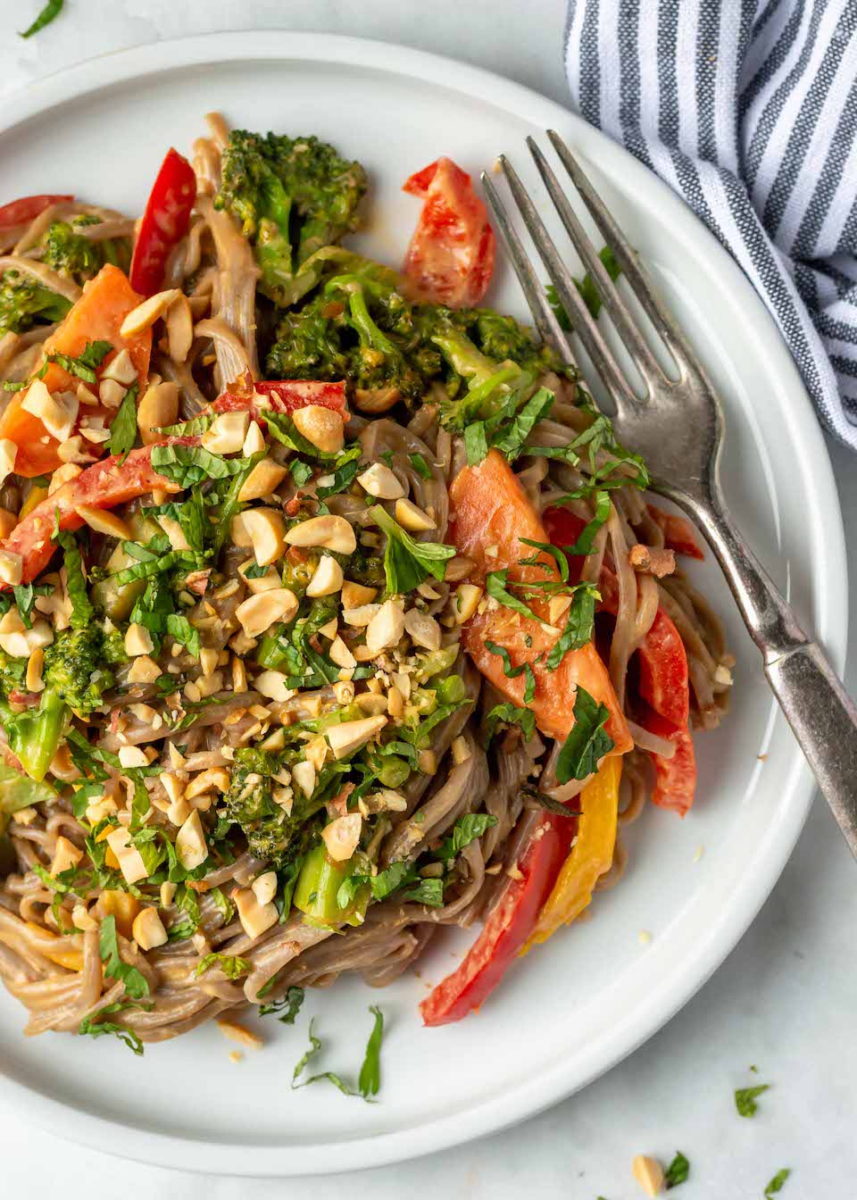 Easy Peanut Noodles with Vegetables