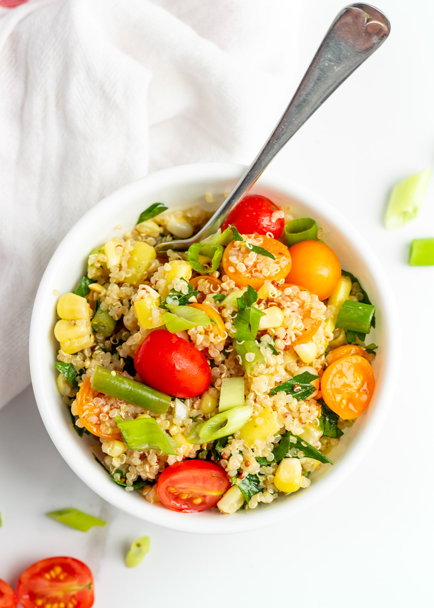 Summery Vegan Quinoa Salad Always Nourished All Veggie Vegetarian A Recipe Perfect For Lunch Every Day Of The Week This