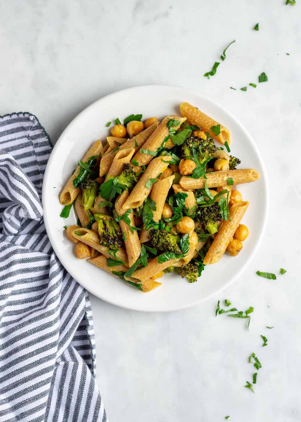 Pasta with Chickpeas and Broccoli