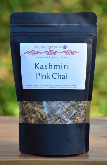 a bag of kashmiri pink chai