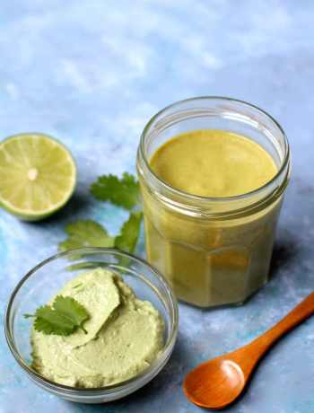 Recipes for vegan cashew cream sauce and green enchilada sauce | Nourishing Wild