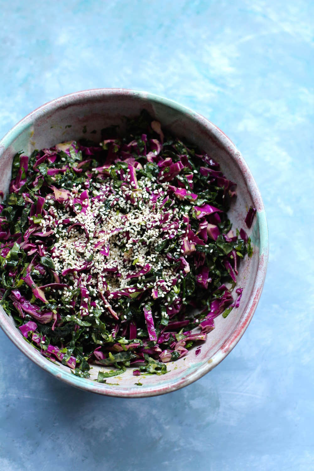 Kale and Cabbage Slaw Recipe | Vegan Meatless Monday Recipes | Nourishing Wild
