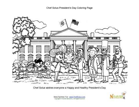 President S Day Kids Fun Coloring Worksheet