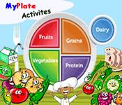 myplate kids colorful rainbow foods