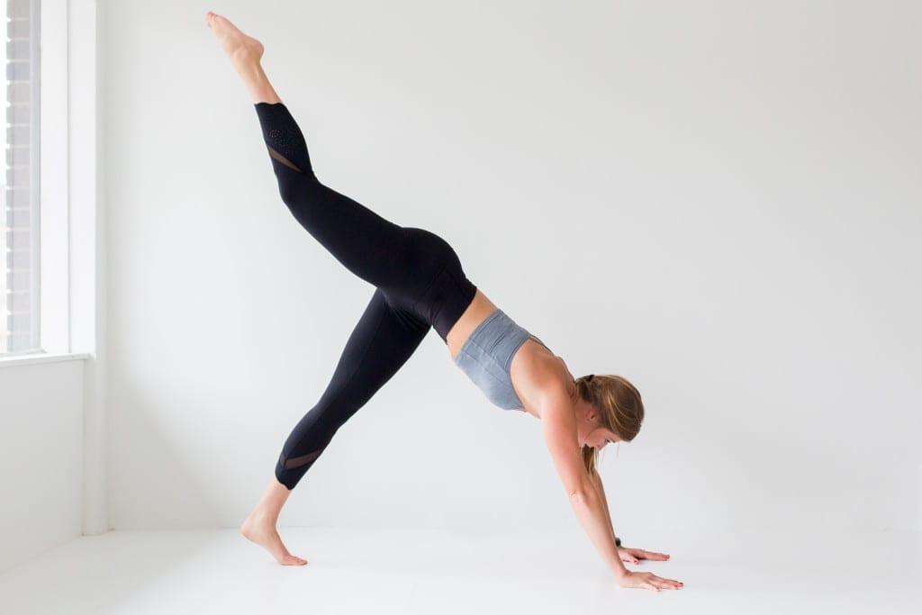 10 morning yoga poses, 3 legged dog --- www.nourishmovelove.com