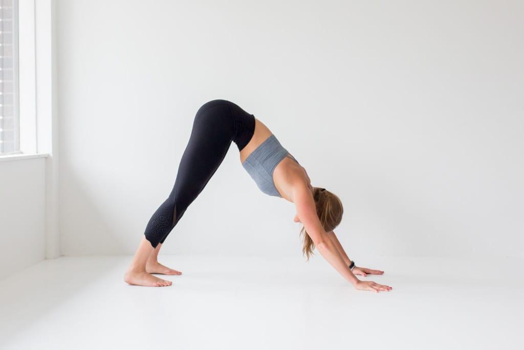 10 morning yoga poses, down dog --- www.nourishmovelove.com