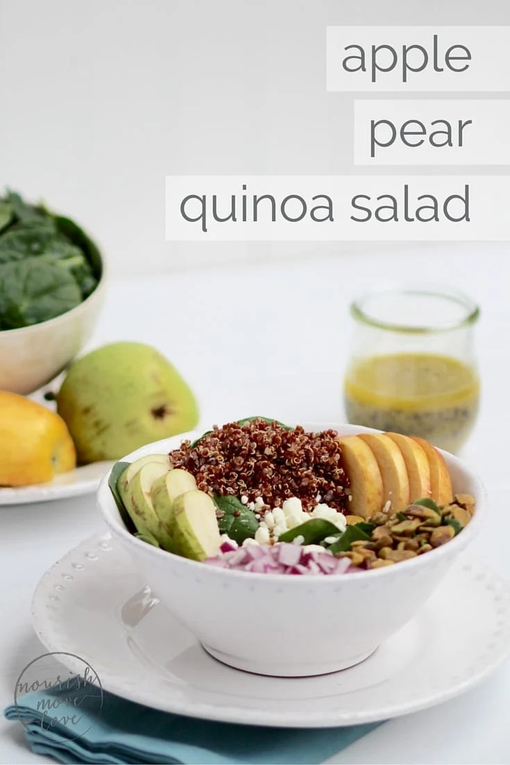 Simple apple pear quinoa salad nourish move love for Apple pear recipes easy