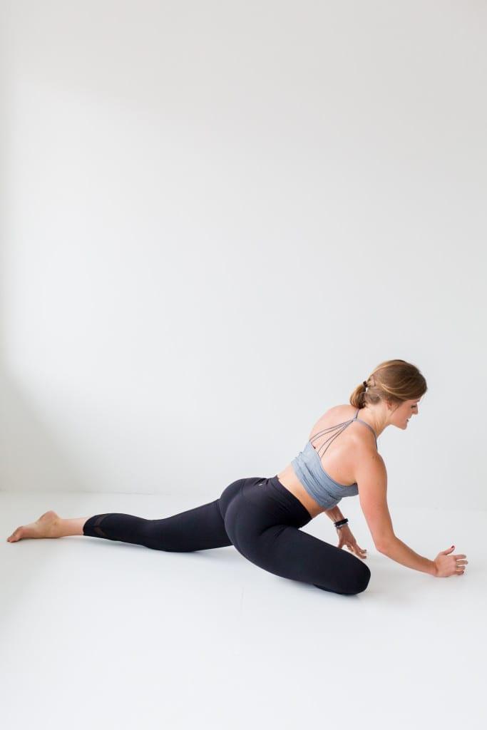 10 morning yoga poses, half pigeon --- www.nourishmovelove.com