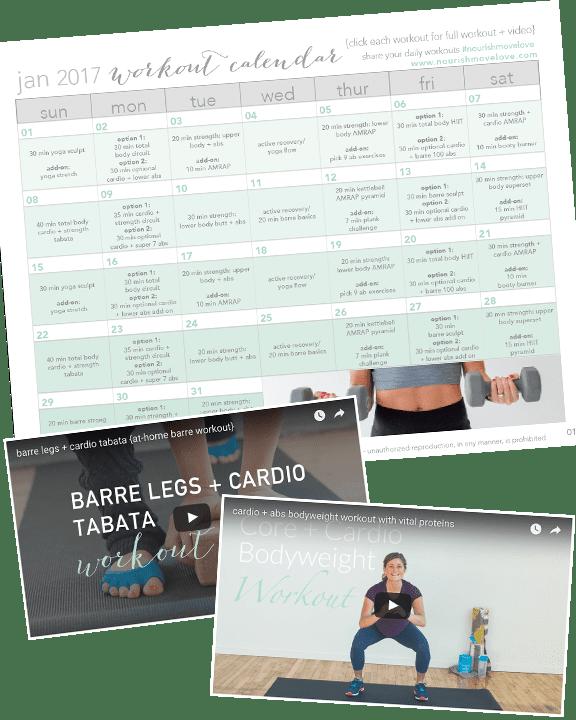 printable 30 day workout calendar promo
