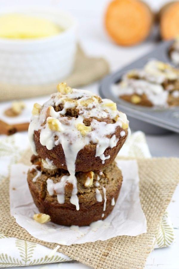 Grain-Free Sweet Potato Banana Nut Muffins