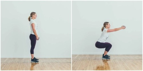Image result for Squat With Front Raise