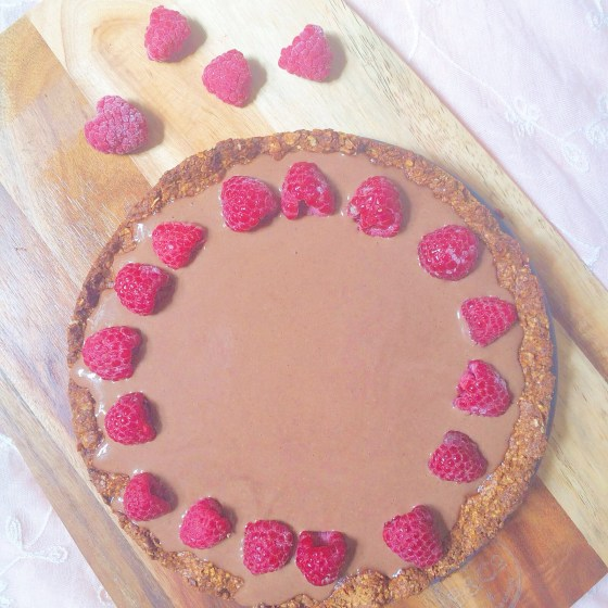 Strawberry Mouse Tart- healthy, gluten free and vegan