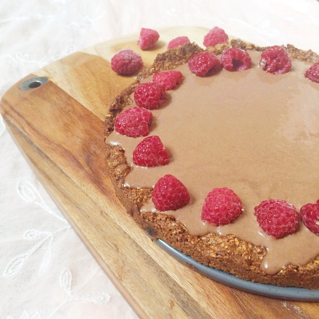 Chocolate Tart with Raspberry and Almond