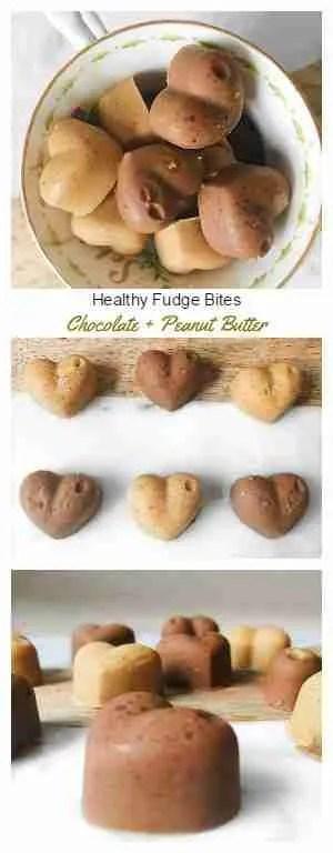 Healthy Fudge Bites Recipe! Chocolate and Peanut butter flavour. Vegan + Gluten Free