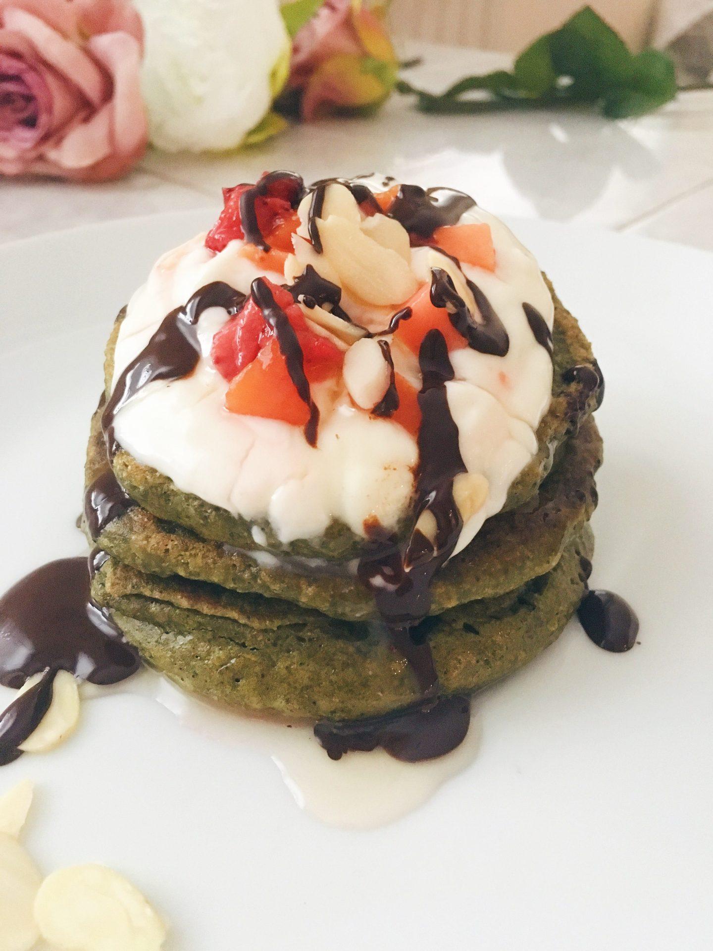 Matcha Green Tea Vegan Pancakes