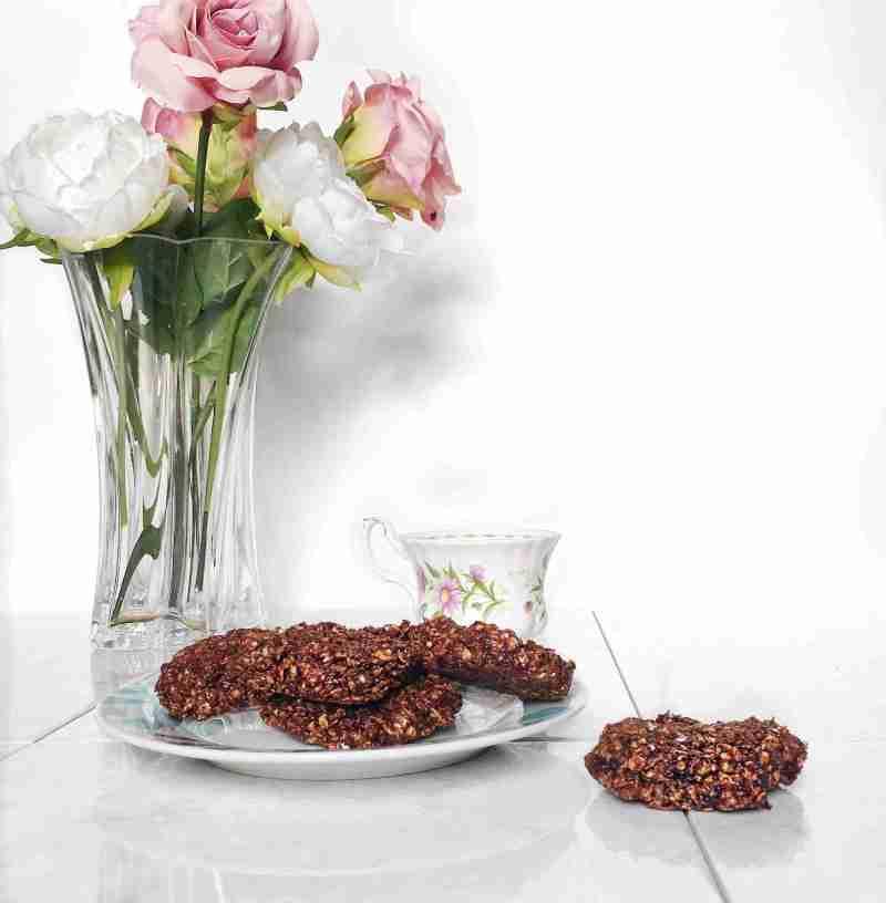 No Bake Healthy Chocolate Fudge Oat Biscuits