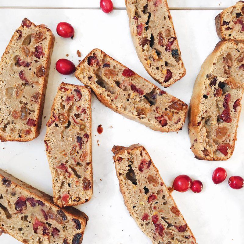 Orange Cranberry Bread. Vegan + Gluten Free + Healthy Recipe