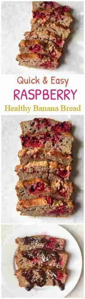 Healthy Raspberry Banana Bread Recipe- Vegan + Gluten Free