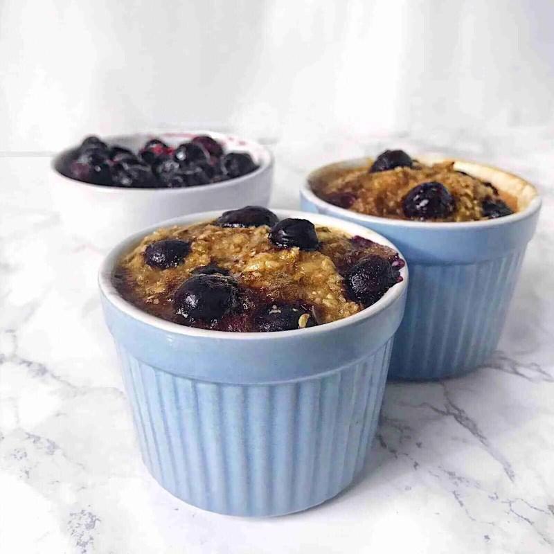 Blueberry Banana Bread Mug Cake