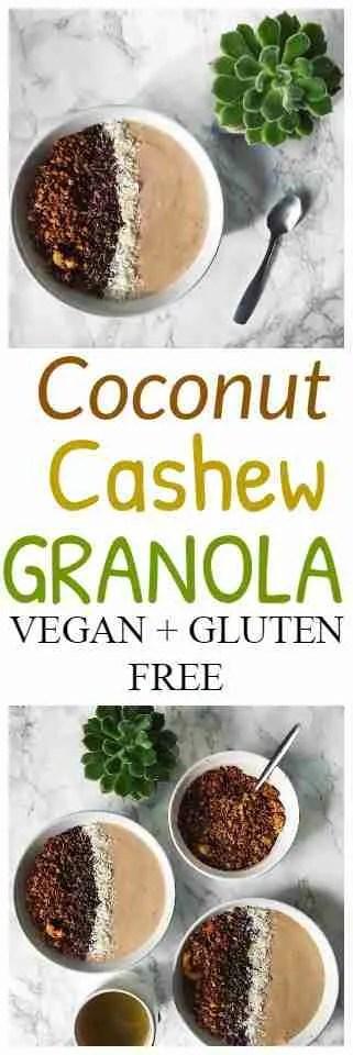 Coconut Cashew Granola Recipe.