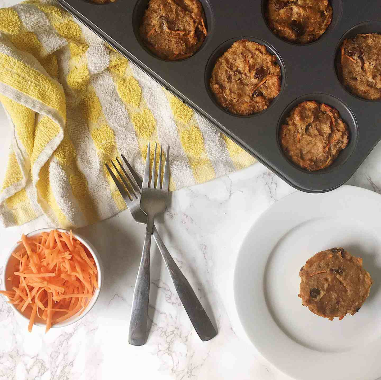 Healthy Carrot Cake Muffin Recie