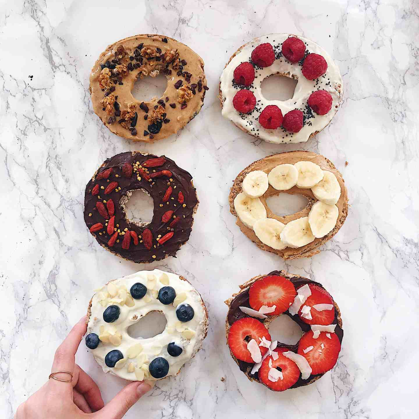 My Favourite Healthy Sweet Bagel Toppings
