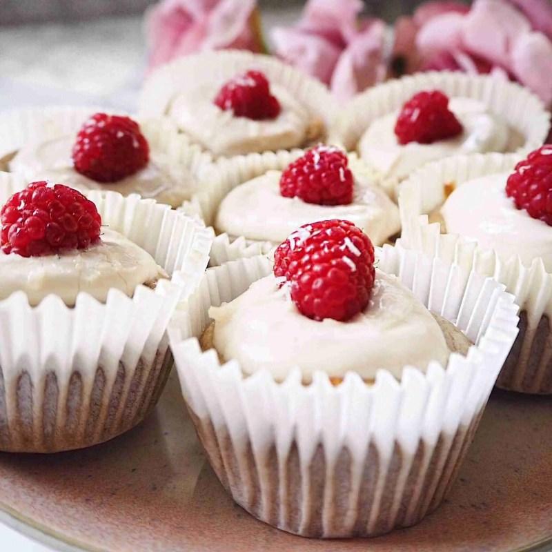 Healthy Coconut and Raspberry Muffins - Gluten Free + vegan