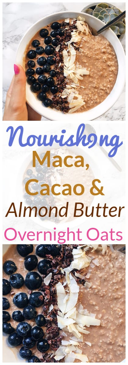 Maca, Cacao and Almond Butter Overnight Oats Recipe