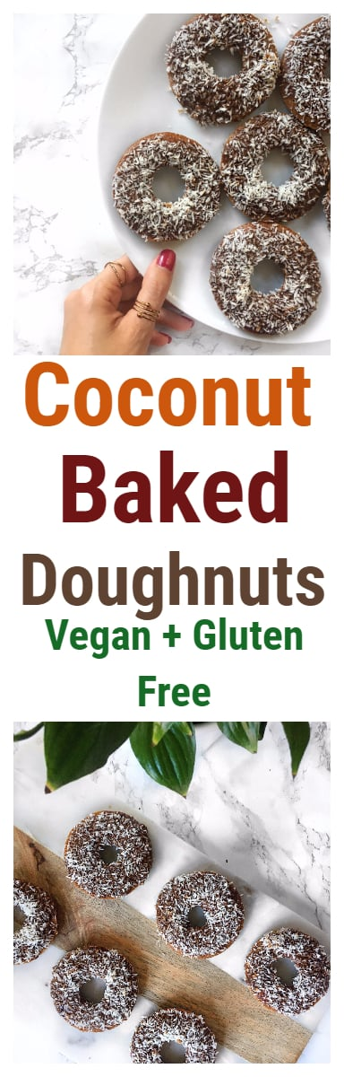 Coconut Flour Baked Doughnuts- Gluten Free