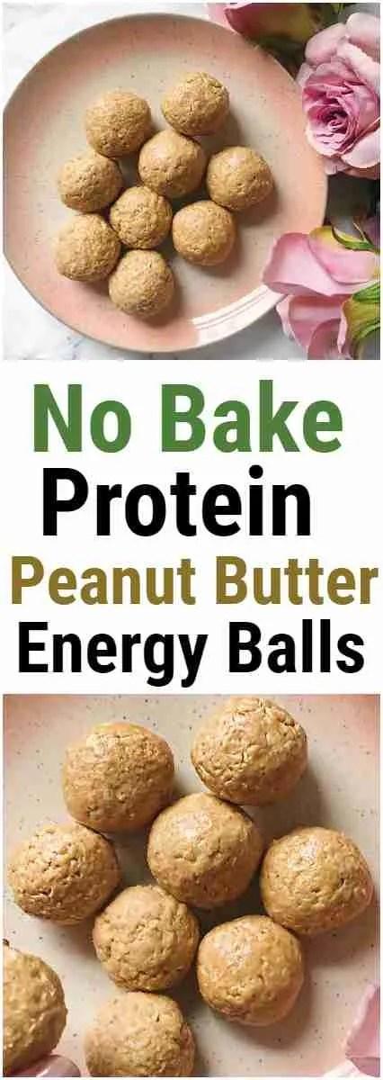 No Bake Peanut Butter Protein energy Balls