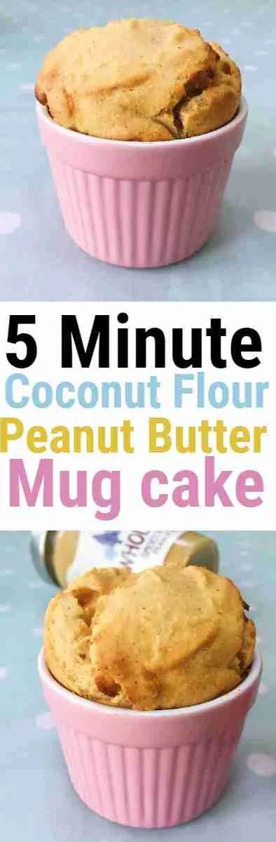 Healthy Coconut Flour Peanut Butter Mug Cake - Nourish ...