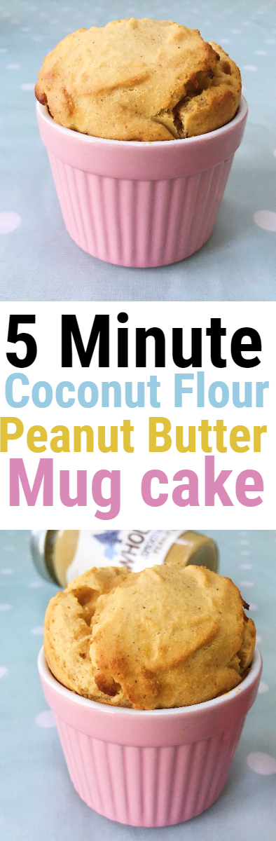 Coconut Flour Peanut Butter Mug Cake
