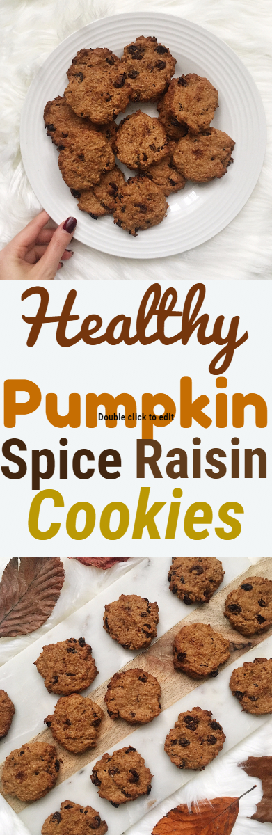 Healthy Pumpkin Spice Raisin Cookies