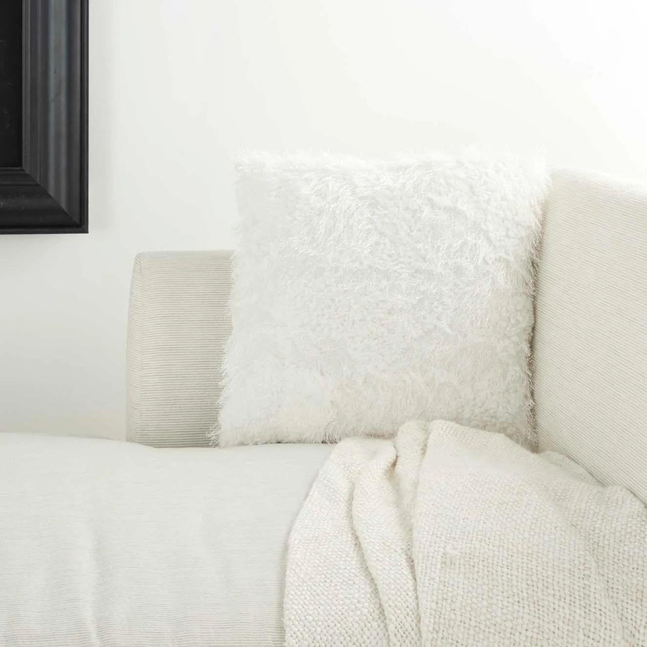 faux fur l0296 white 18