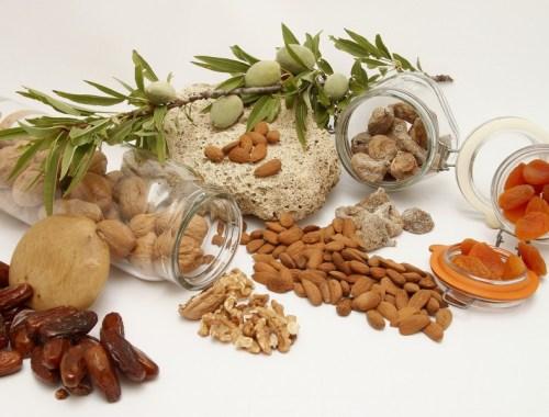 des fruits secs et des oléagineux