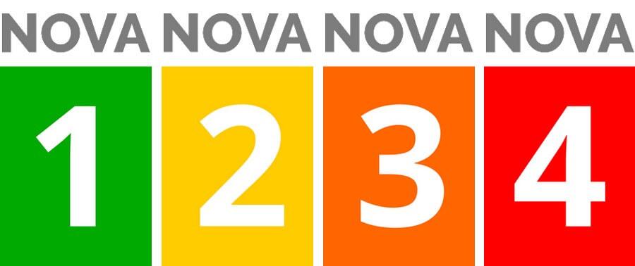 les 4 groupes de la classification NOVA